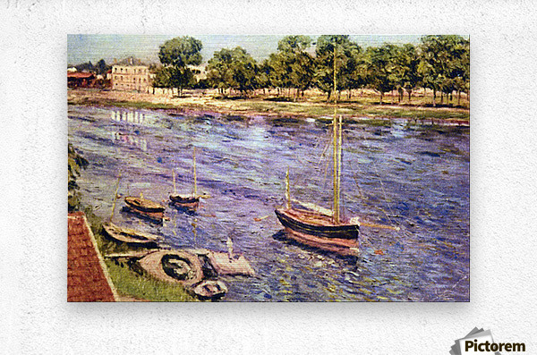 The Marne by Caillebotte  Metal print