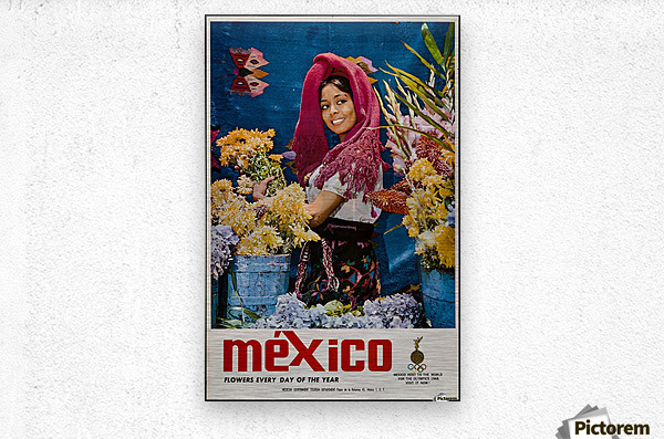 Mexico Flowers every day of the year  Metal print