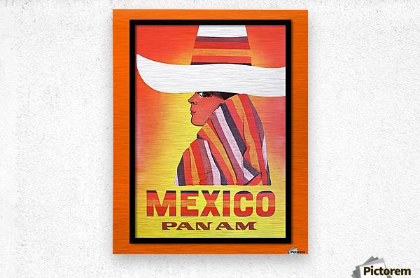 Mexico Travel Print 1968  Metal print