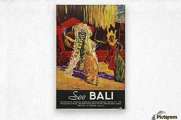 See Bali  Metal print