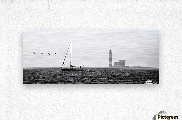 Passing by the Lighthouse  Metal print