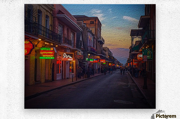 Evening in the Big Easy  Metal print