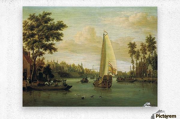 View of Maarsen on the Vecht  Metal print