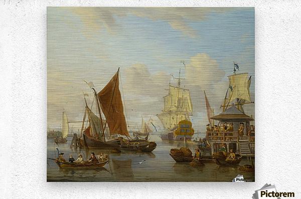 Shipping off Amsterdam  Metal print
