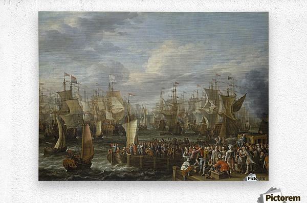Departure of William III from Hellevoetsluis, 19 October 1688  Metal print