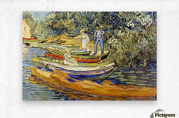 The Riverbank, La Grenouillere by Van Gogh  Metal print