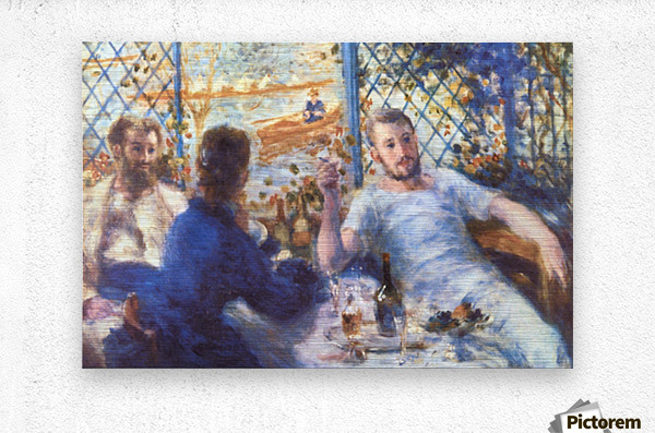 The Rowers Lunch by Renoir  Metal print
