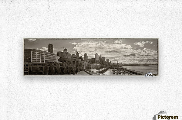 Panoramic Seattle Water Vista  Metal print