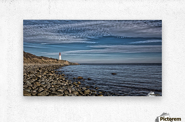 Low Point Lighthouse - Nova Scotia  Metal print