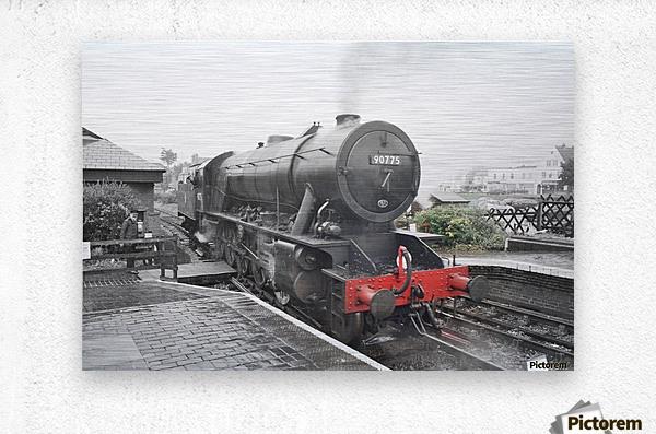 Old engine  Metal print