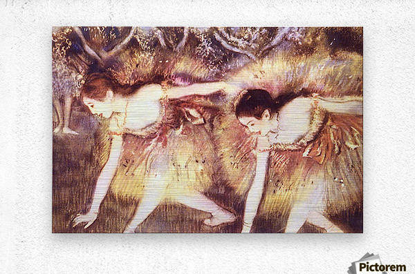 Two Dancers by Degas  Metal print