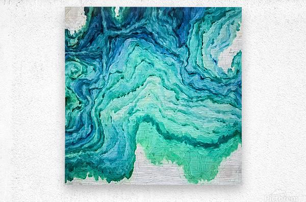 Ocean Floor  Metal print