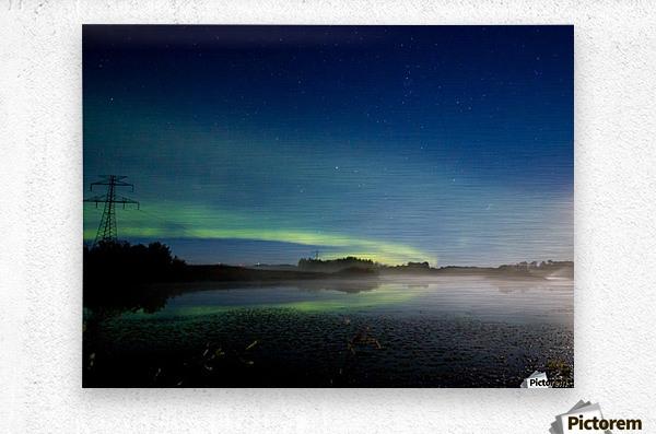 Moonlit Aurora  Metal print