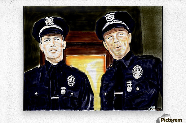 Cops  by J Gregory  Metal print