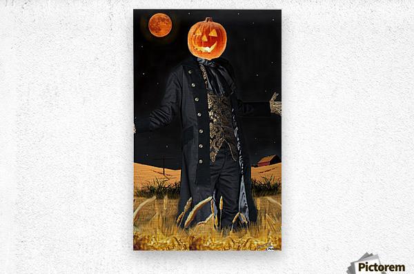 Pumpkinhead by J Gregory  Metal print
