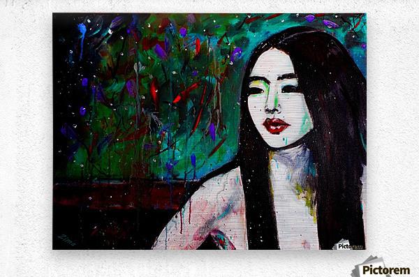 Asian Girl  Metal print