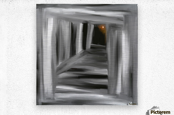 To the unknown   Metal print