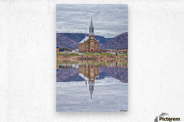 St. Pierres Church - Cheticamp Ns  Metal print