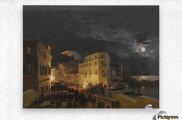 Venice, Nocturnal Festivities on the Via Eugenia  Metal print