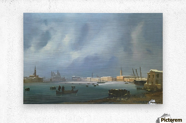 View of St. Mark's Basin in Venice under the snow  Metal print