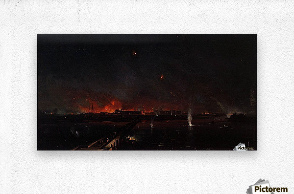 Bombardment of Marghera on the Night of May 24, 1849  Metal print