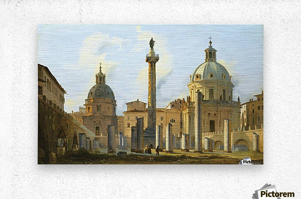 View of Trajan Forum in Rome  Metal print