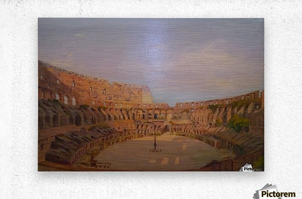 Interior of the Colosseum, 1857  Metal print