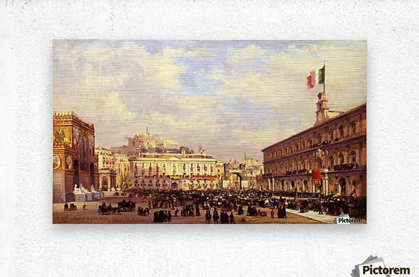 Napoli, 1860  Metal print