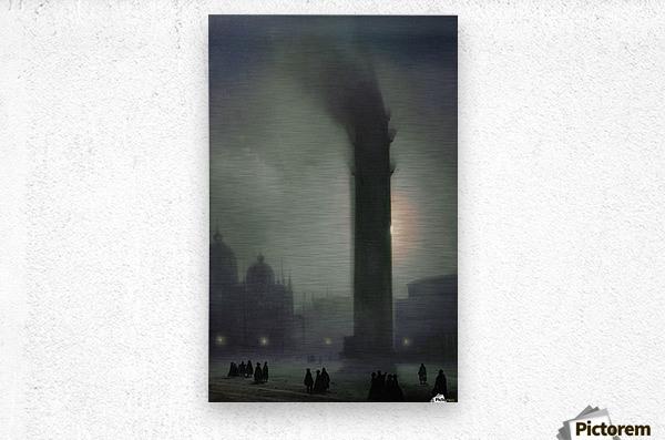 Night with fog in Piazza San Marco  Metal print