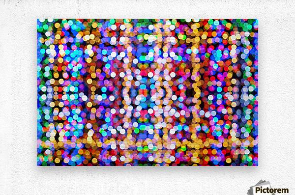 bokeh multicolor  Metal print