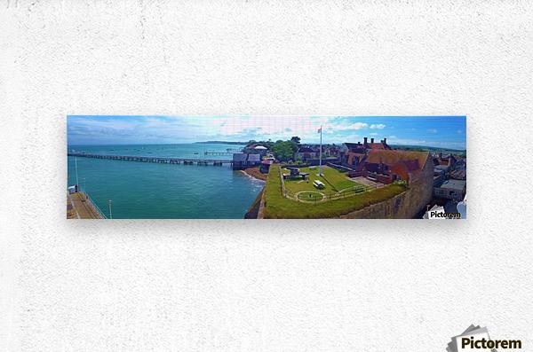 Ferry view  Metal print