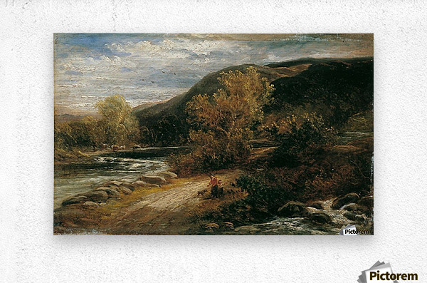 A river from the mountains  Metal print