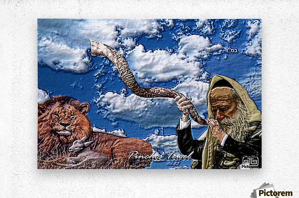 Art   Pinchos   shofar   LION  3D  1  Metal print