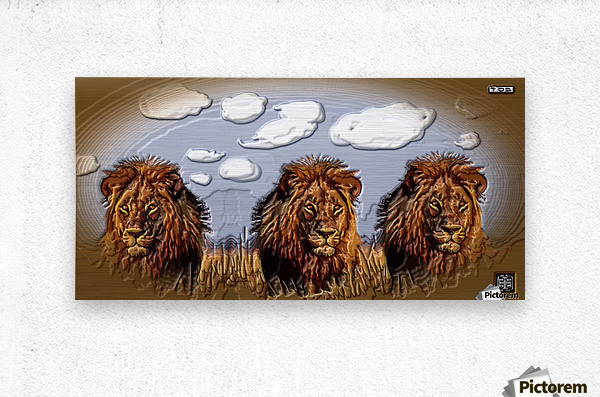 art   lion 3D  A  Metal print