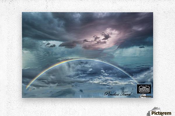 RAINBOW STORM 1  Metal print