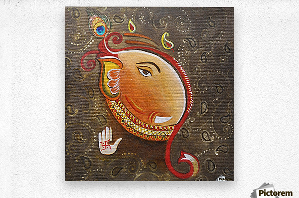 Ganesha the Great God  Metal print