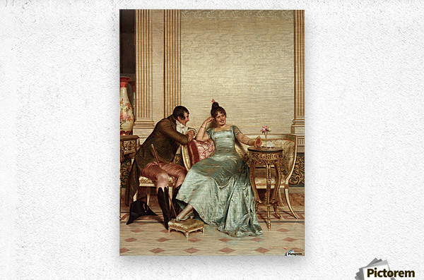 The French Cavaliers  Metal print