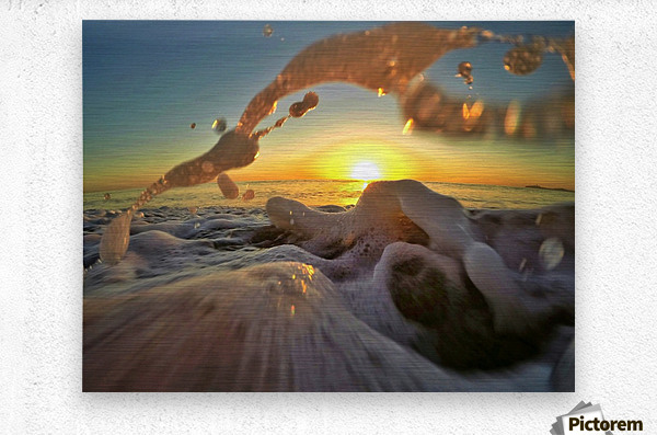 Peace Within the Chaos  Metal print