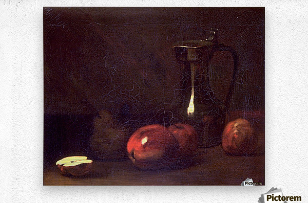 Still life with apples  Impression metal