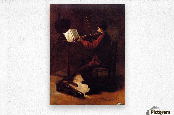 Violinist  Impression metal