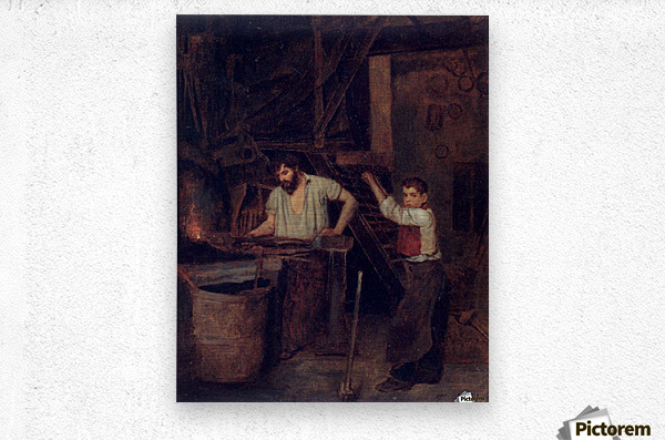 The blacksmiths  Metal print