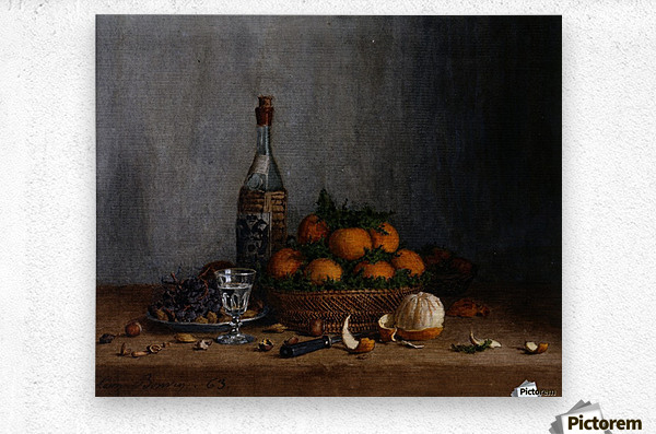 Still Life with Basket of Oranges  Impression metal