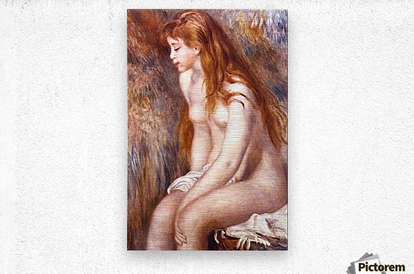Young Girl Bathing by Renoir  Metal print