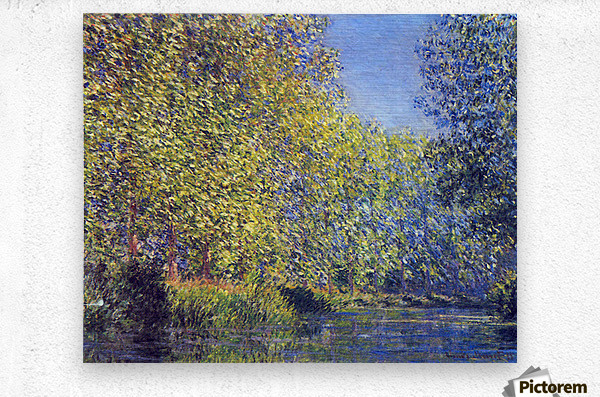 A Bend in the Epte Giverny by Monet  Metal print
