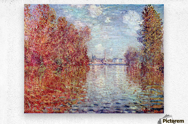 Autumn in Argenteuil by Monet  Metal print