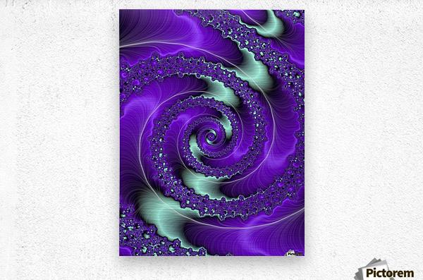Purple Vortex  Metal print