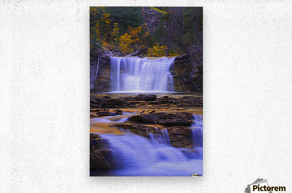 Johnston Canyon In Banff National Park, Alberta, Canada  Metal print