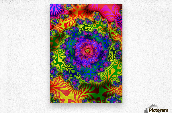 Vivid Abstract Image  Metal print