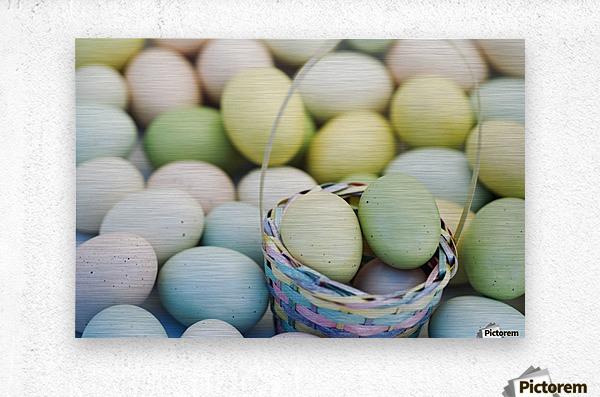 Easter Eggs And Basket  Metal print
