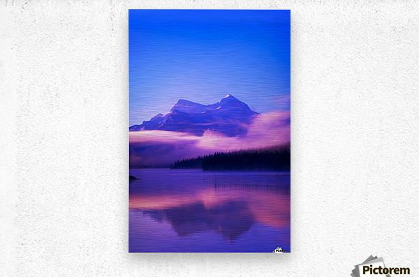 Maligne Lake, Jasper National Park, Alberta, Canada  Metal print